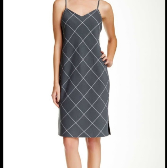 1. State Windowpane Dress